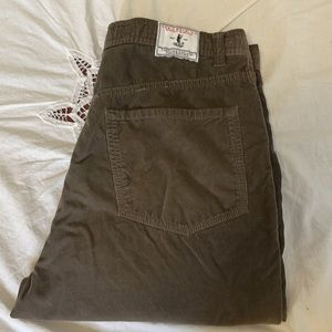 Orvis dark taupe soft corduroy fly fishing pant 34